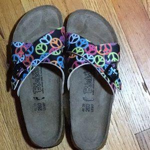 Birkenstock Birki's Santosa Peace Sign Sandals 9